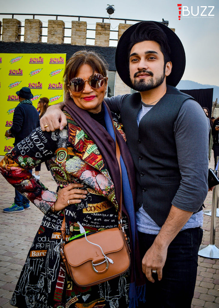 Uzair Jaswal and Frieha Altaf at Mountain Dew Solis Music and Arts Festival Islamabad